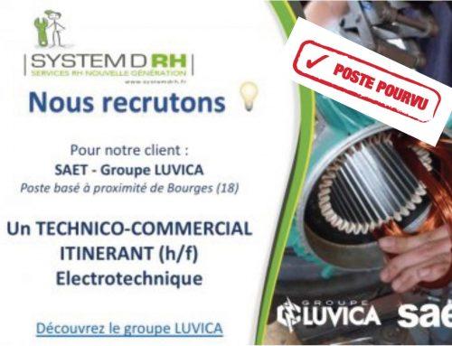 Rejoignez le groupe LUVICA – CDI Technico-commercial itinérant Electrotechnique.