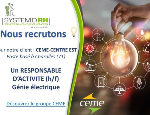 Groupe CEME – Responsable d'activité Génie électrique – Charolles (71)