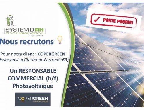 Opportunité d'emploi – Responsable commercial Photovoltaïques