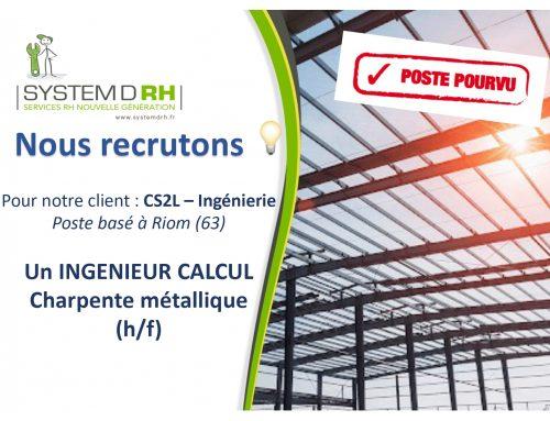 Opportunité #CDI – Ingénieur calcul structure métallique h/f