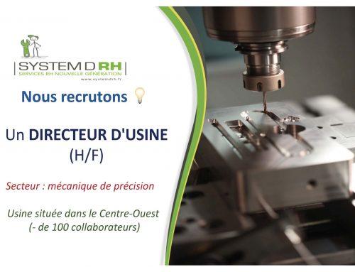 Opportunité #CDI Pays de la Loire – Directeur d'usine (h/f)