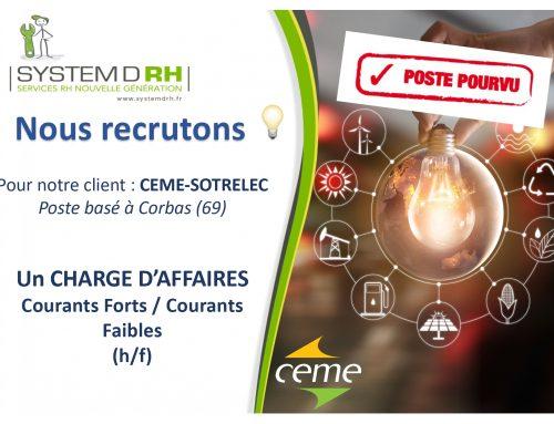 Opportunité #CDI Région AURA – Chargé d'Affaires Génie Electrique (h/f)