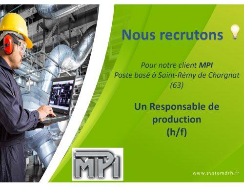 Opportunité #CDI Puy-de-Dôme – Responsable de production (H/F)