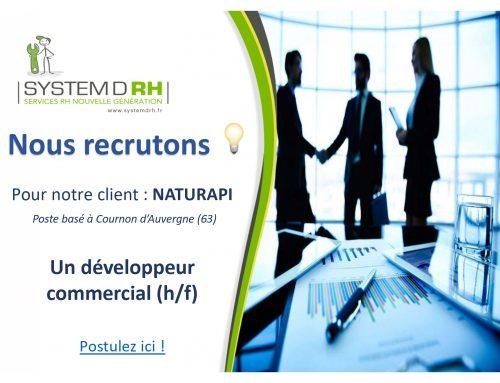 Opportunité #CDI Puy-de-Dôme – Développeur commercial (H/F) – NATURAPI